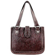 Сумка Dark Brown Tooled Handbag