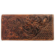 Аксессуар Floral Tooled Leather Rodeo Wallet Coffee