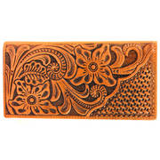 Кошелек / бумажник Floral Tooled Leather Rodeo Wallet Brown