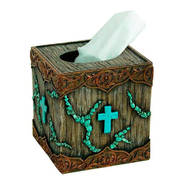 Для Дома Resin Tissue Box with Resin Soap Dish with Cross and Turquoise cross