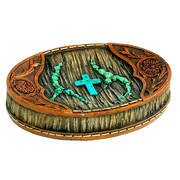 Для Дома Resin Turquoise Cross Soap Dish