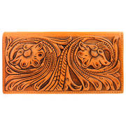 Vintage Tooled Leather Rodeo Wallet