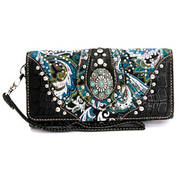 Сумка Floral Paisley Wallet/Wristlet, Concho