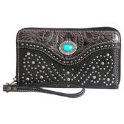 Сумка BLK/Gray Wallet/Wristlet-zipper closure
