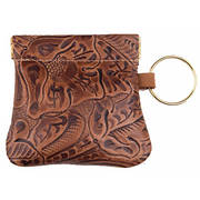 Брелок Leather Squeeze Coin Purse - Brown Floral