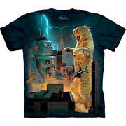 Fun-art футболка Catzilla vs. Robot
