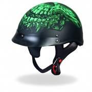 Мотошлем D.O.T. Shredder Skull Glossy Motorcycle Helmet