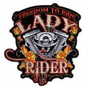 Нашивка Freedom to Ride Lady Rider Patch