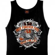 Mens Black Angry Eagle Tank Top