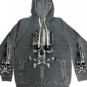 Charcoal Flag Skull Sweatshirt