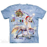 Рождественская футболка Unicorn Candy Land Kids