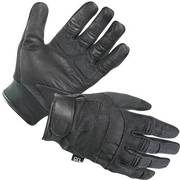 Leather-and-Mesh Motorcycle Gloves