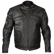 Armored Classic Blackout Leather Motorcycle Jacket