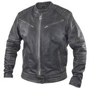 Men's Distressed Grey Leather Motorcycle Jacket