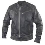 Куртка Men's Distressed Grey Leather Motorcycle Jacket