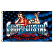 Official Choppers Inc Pin Up Relax Flag