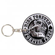 Key Chain Patch Spade Skull Ride