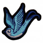 Нашивка Love Bird Blue Patch
