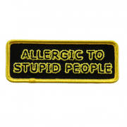 Нашивка Allergic To Stupid Patch