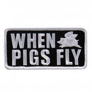 Нашивка When Pigs Fly Patch