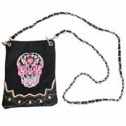 Сумка Embroidered Sugar Skull Purse
