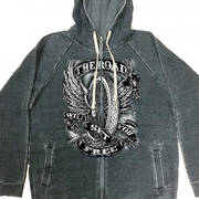 Flying Wheel Zip Up Hooded Sweat Shirt
