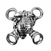 Кожаный жилет Silver Marine Corps Military Lace Up Charm