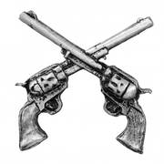 Значок Crossed Guns Pewter Pin