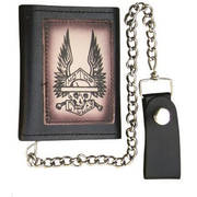 Аксессуар Tri-fold Chain Wallet with Skeleton & Wings