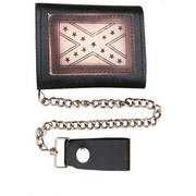 Tri-fold Chain Wallet with Rebel Flag