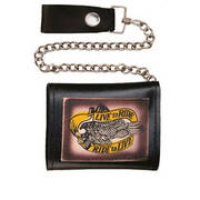 "Кошелек / бумажник Tri-fold Chain Wallet ""Live to Ride/Ride to Live"""