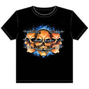Футболка Black 3 Skull Barbwire T-Shirt