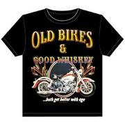 Футболка Old Bikes & Good Whiskey Motorcycle T-shirt