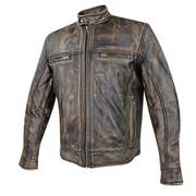 Venture Armored Leather Motorcycle Jacket&Gun Pocket