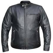 Urban Armor Men's 'Scoot' Black Leather Jacket with Gun Pockets