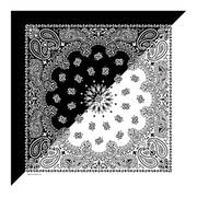 Бандана Split Black/White Paisley Bandannas