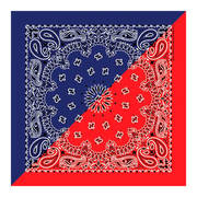 Split Red/Navy Paisley Bandannas