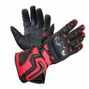 Мотоперчатки Xelement Motorcycle Black Carbon Gloves