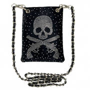 Сумка Skull & Guns Rhinestone Purse