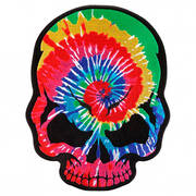 Нашивка Tie Dye Rocker Skull Patch