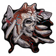 Нашивка Wolf and Skull Patch