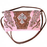 Pink Studded and Embroidered Wrist Purse