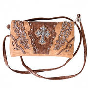 Сумка Tan Studded and Embroidered Wrist Purse
