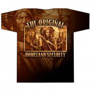 Футболка с изображением индейцев с коротким рукавом Native Defense Allover Print T-shirt
