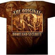 Футболка с изображением индейцев Native Defense Allover Print T-shirt