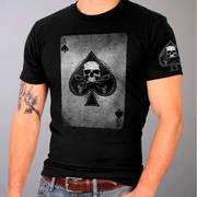 Футболка для байкеров Skull and Cross Guns Ace of Spade T-Shirt