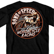 Футболка для байкеров Official Sons of Speed Vintage Motorcycle Racing