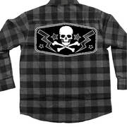 LS DS FLANNEL SKULL BOLTS