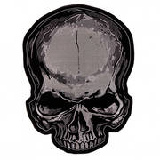 Нашивка PATCH JUMBO SKULL GRAY