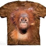 Футболка с обезьяной Orangutan Hang